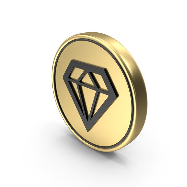 Diamond Gem Coin Logo Icon PNG & PSD Images