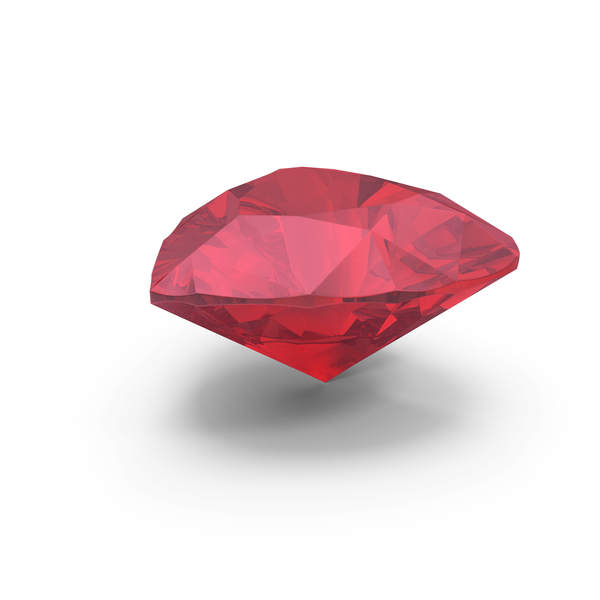 Diamond Heart Cut Ruby PNG & PSD Images