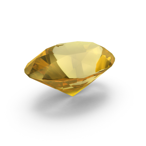 Diamond Oval Cut Yellow Sapphire PNG & PSD Images