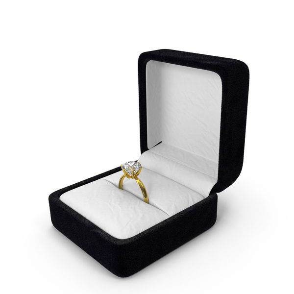 Diamond Ring in Box Object