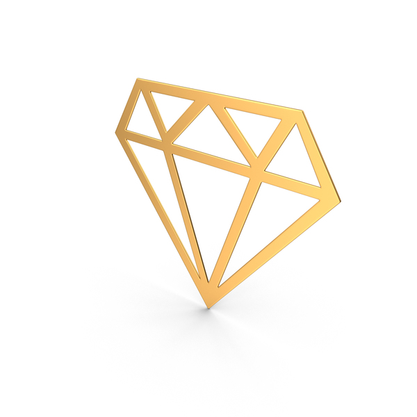 Diamond Sign Gold PNG & PSD Images