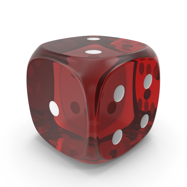 Dice 2  Red Glass PNG & PSD Images
