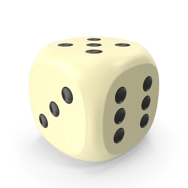 Dice Beige Black Up 5 PNG & PSD Images