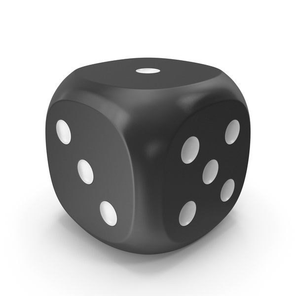 Dice Black White Up 1 PNG & PSD Images
