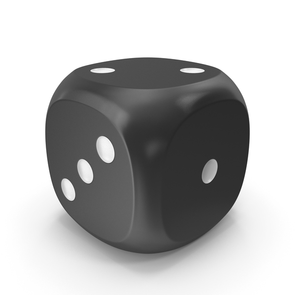 Dice Black White Up 2 PNG & PSD Images