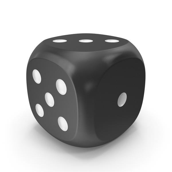 Dice Black White Up 3 PNG & PSD Images
