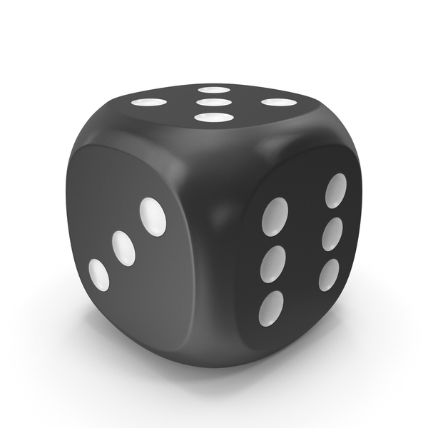 Dice Black White Up 5 PNG & PSD Images