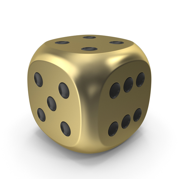 Dice Gold Black Up 4 PNG & PSD Images