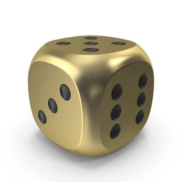 Dice Gold Black Up 5 PNG & PSD Images