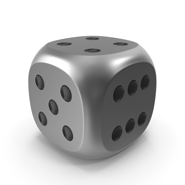 Dice Metal Black Up PNG & PSD Images