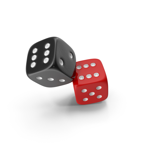 Dice Red And Black PNG & PSD Images