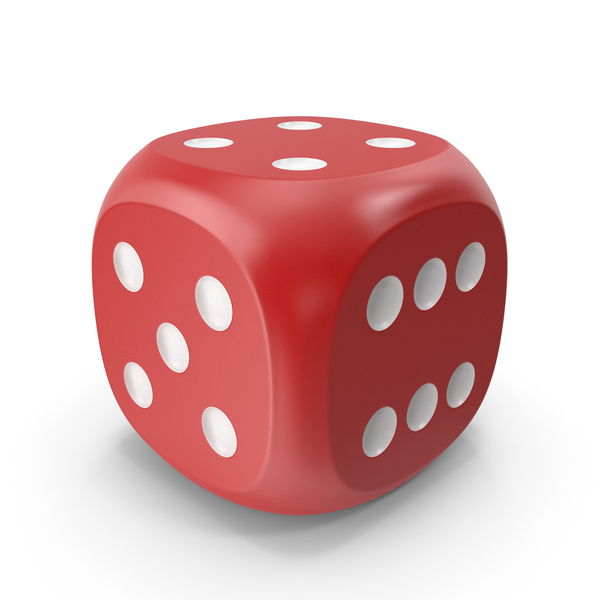 Dice Red White Up 4 PNG & PSD Images