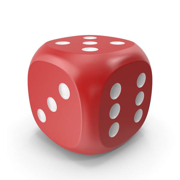 Dice Red White Up 5 PNG & PSD Images