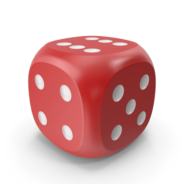 Dice Red White Up PNG & PSD Images