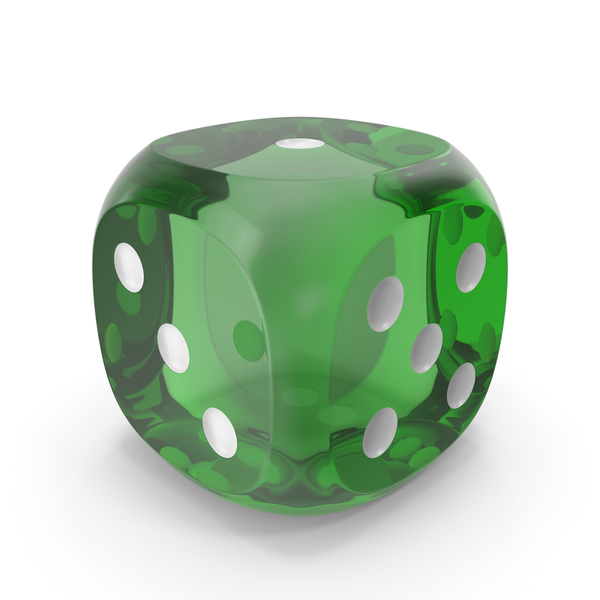Dice Transparent Green White PNG & PSD Images