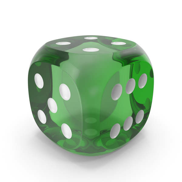 Dice Transparent Green White Up PNG & PSD Images