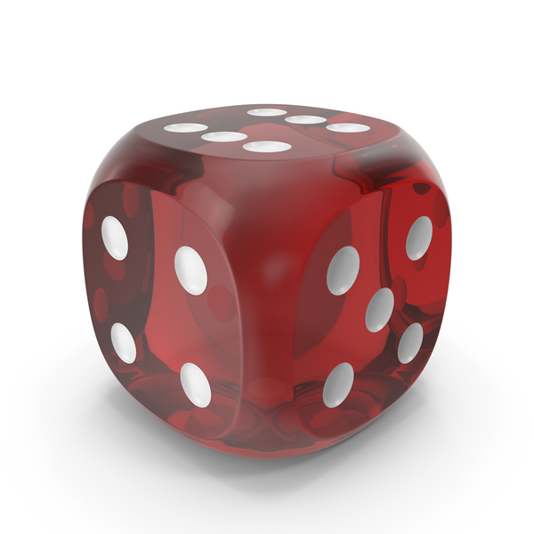 Dice Transparent Red White Up 6 PNG & PSD Images