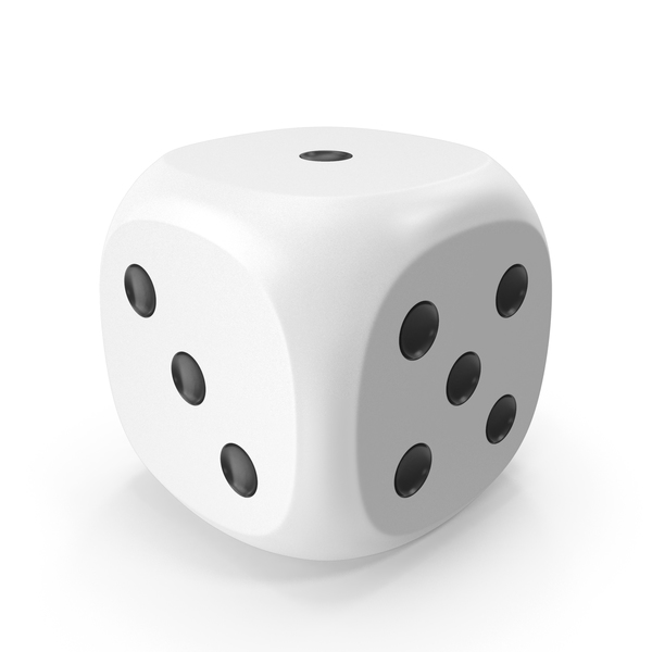 Dice White Black Up 1 PNG & PSD Images
