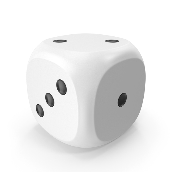 Dice White Black Up 2 PNG & PSD Images