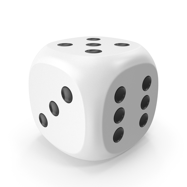 Dice White Black Up 5 PNG & PSD Images