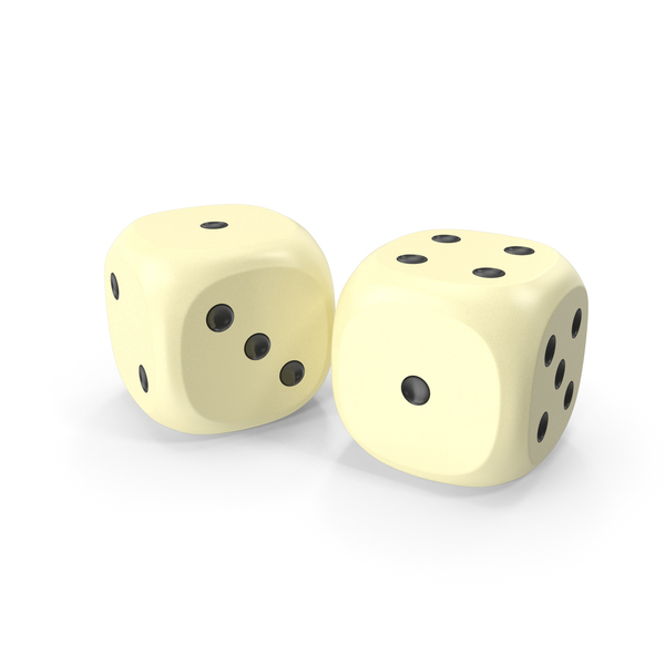 Dices Duo Beige Black PNG & PSD Images