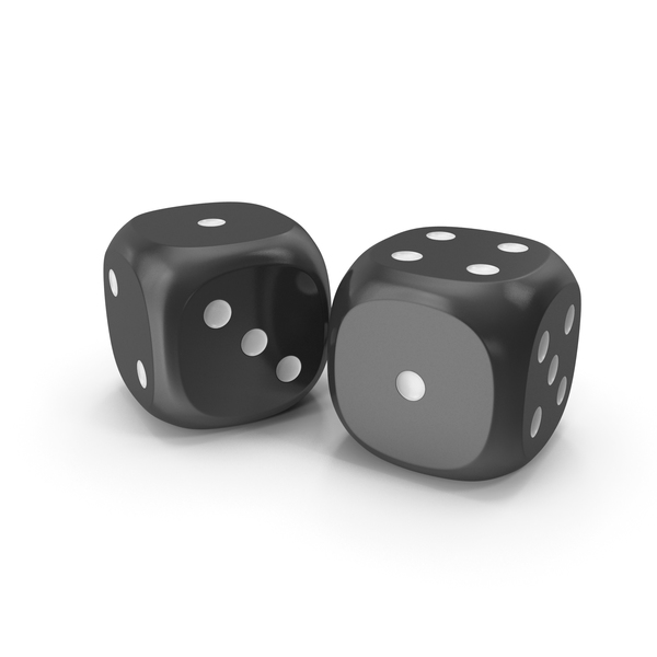 Dices Duo Black White PNG & PSD Images