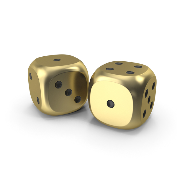 Dices Duo Gold Black PNG & PSD Images