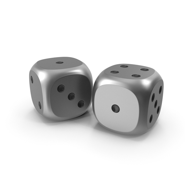 Dice: Dices Duo Metal Black PNG & PSD Images