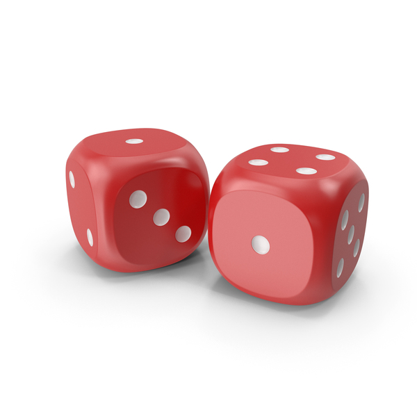 Dices Duo Red White PNG & PSD Images