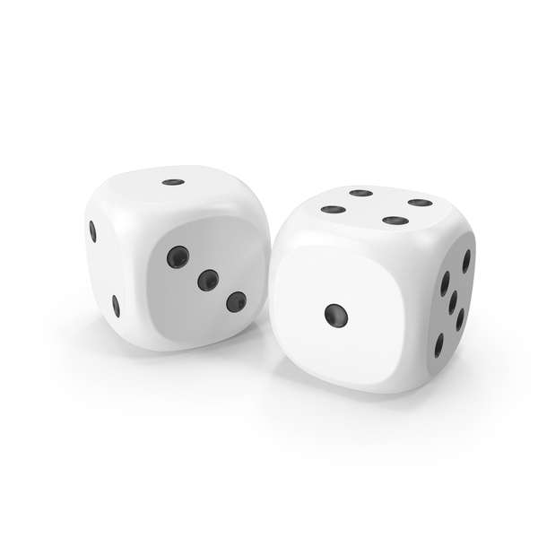 Dices Duo White Black PNG & PSD Images