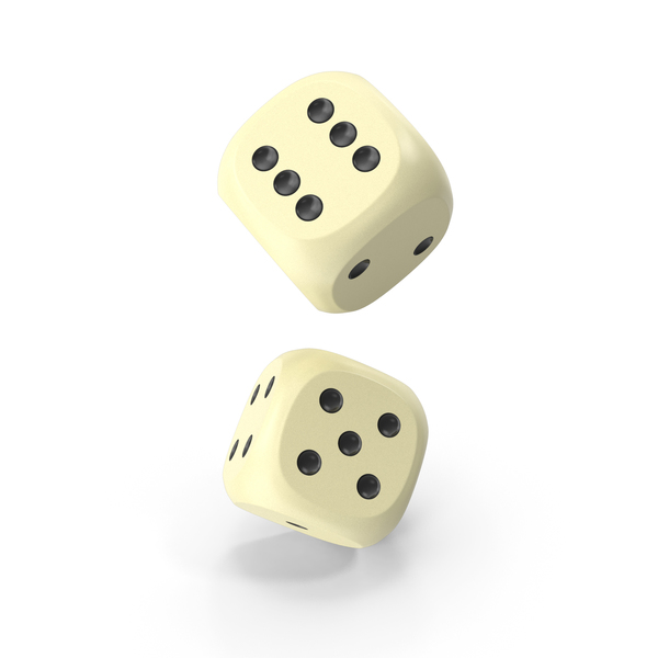 Dices Falling Beige Black PNG & PSD Images