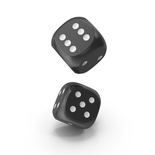Dice: Dices Falling Black White PNG & PSD Images