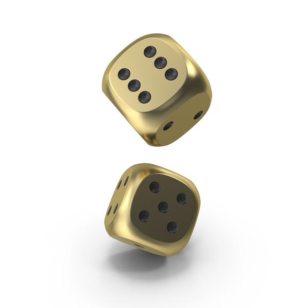 Dice: Dices Falling Gold Black PNG & PSD Images