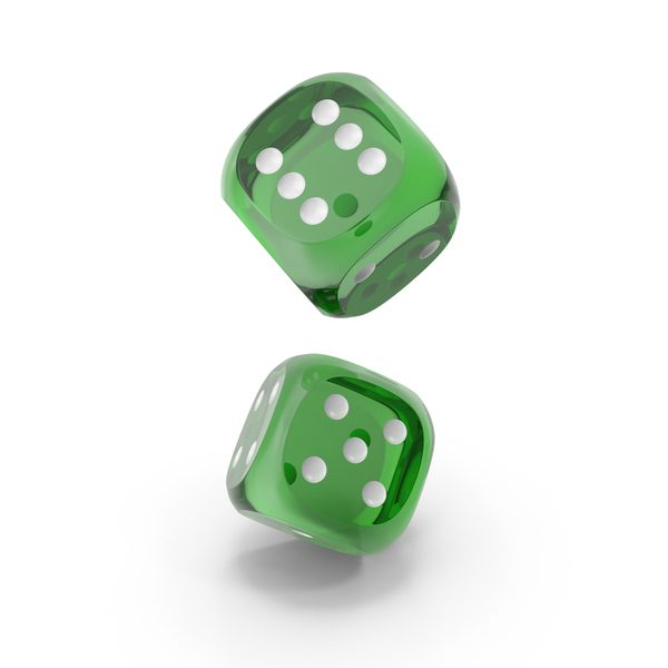 Dice: Dices Falling Transparent Green White PNG & PSD Images