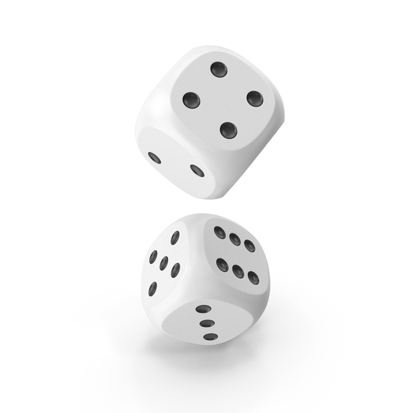 Dice: Dices Falling White Black PNG & PSD Images