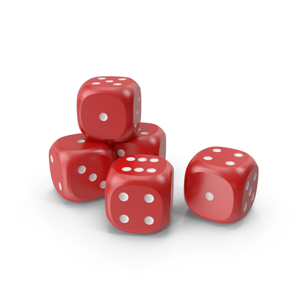 Dices Red White PNG & PSD Images