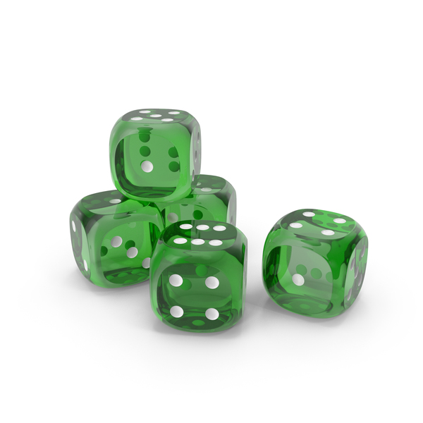 Dices Transparent Green White PNG & PSD Images