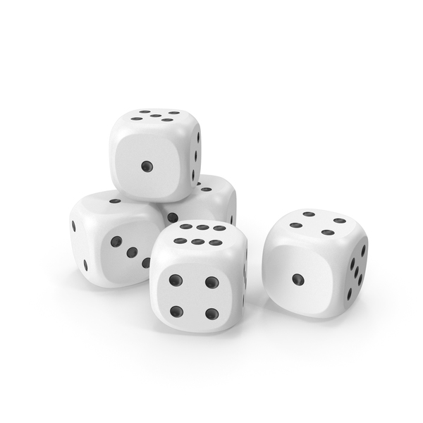 Dices White Black PNG & PSD Images