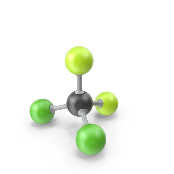 Dichlorodifluoromethane Molecule PNG & PSD Images
