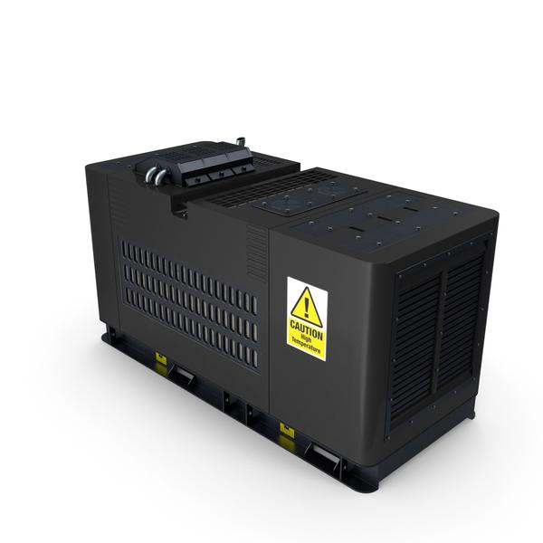 Diesel Generator Black PNG & PSD Images