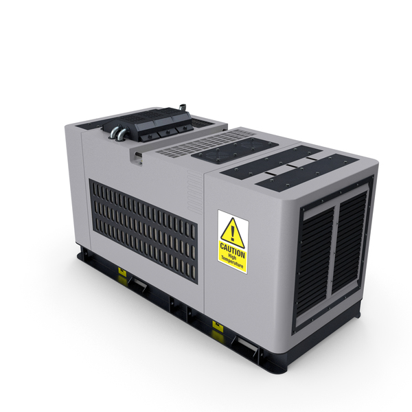 Ground Power Units: Diesel Generator Grey PNG & PSD Images