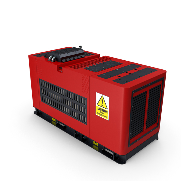 Ground Power Units: Diesel Generator Red PNG & PSD Images