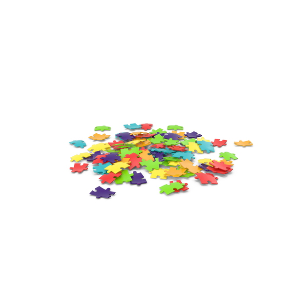 Different Colored Puzzle Pieces PNG & PSD Images