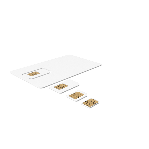 Different Sizes Sim Card Generic PNG & PSD Images