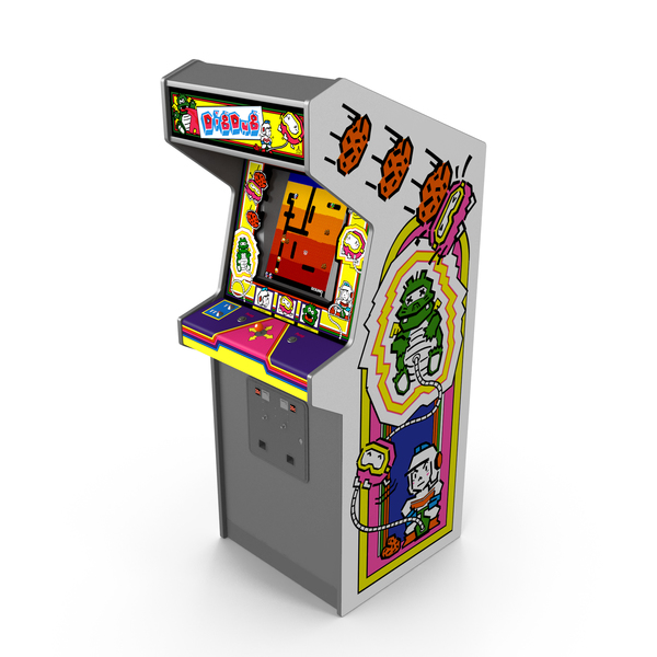 Games: Dig Dug Arcade Machine PNG & PSD Images