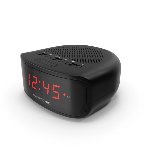 Digital Clock Radio Magnasonic Black PNG & PSD Images