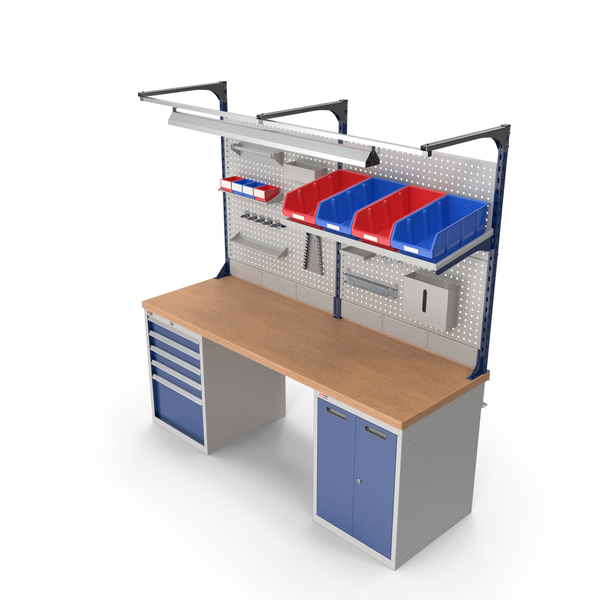 Dikom Multipurpose Workbench with Work Light PNG & PSD Images