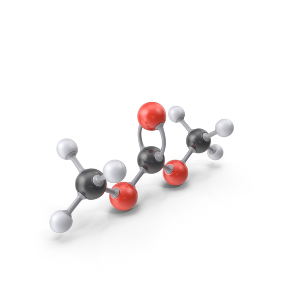 Dimethyl Carbonate Molecule PNG & PSD Images