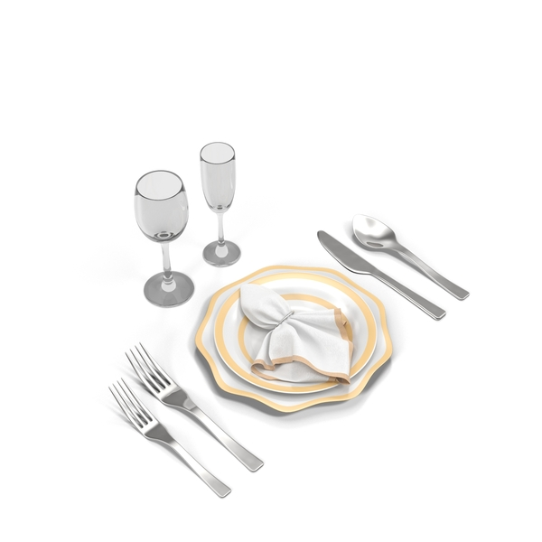 Place Setting: Dining Set PNG & PSD Images
