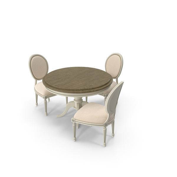 Dining Table Set 3 Persons PNG & PSD Images